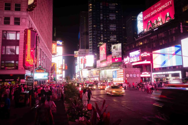 Time Square bei Nacht New York